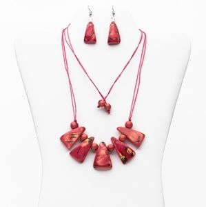 Tagua Necklace and Earrings